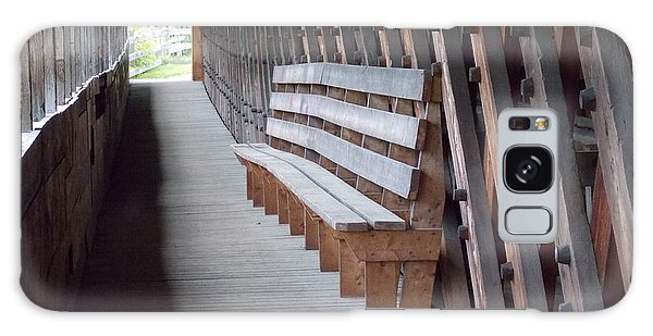 Bench Inside A Covered Bridge Galaxy Case