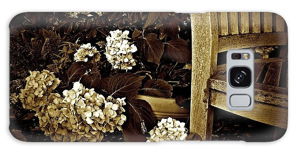 Bench With Hydrangeas Galaxy Case