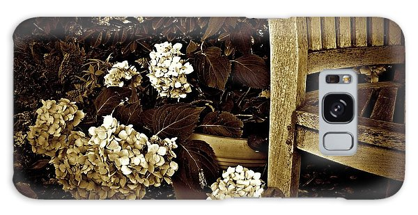 Bench With Hydrangeas Galaxy Case by Patricia Strand