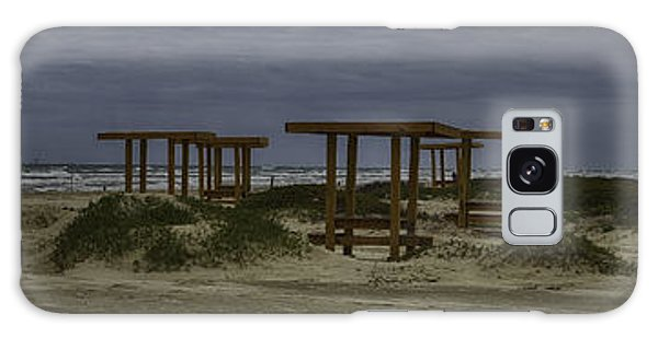 Padre Island National Seashore Galaxy S8 Case - Benches By The Sea by Jeremy Linot