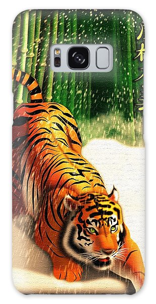 Bengal Tiger In Snow Storm  Galaxy Case by John Wills