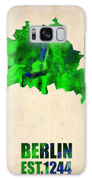 Berlin Galaxy Case - Berlin Watercolor Map by Naxart Studio