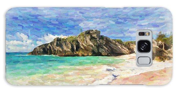 Bermuda Beach Galaxy Case by Verena Matthew