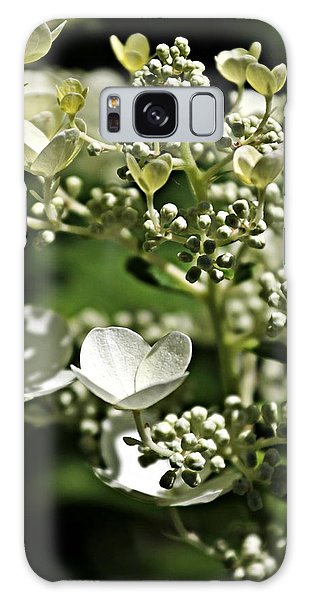 Berries And Blooms In Monochromatic Green Galaxy Case