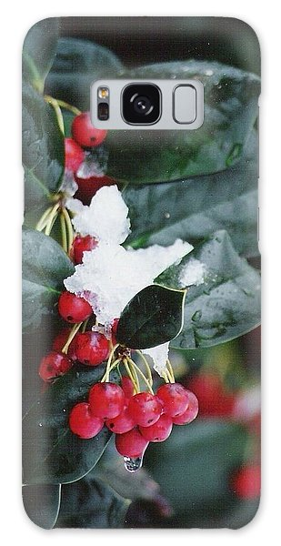 Berries In The Snow Galaxy Case