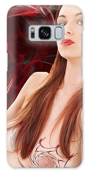 Berry Delightful Galaxy Case by Sylvia Thornton