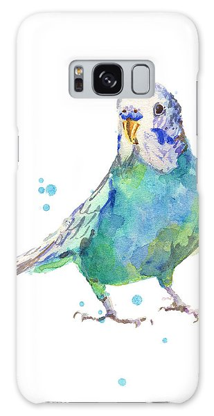 Parakeet Galaxy Case - Bertie Wonderblue The Budgie by Alison Fennell