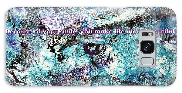 Besso Monotype Smile Galaxy Case by Marlene Rose Besso