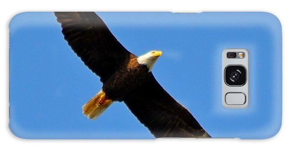 Best Bald Eagle On Blue Galaxy Case