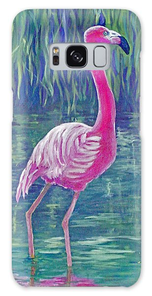 Beta's Flamingo Galaxy Case