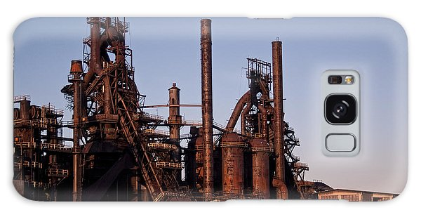 Bethlehem Steel At Sunset Galaxy Case by Michael Dorn