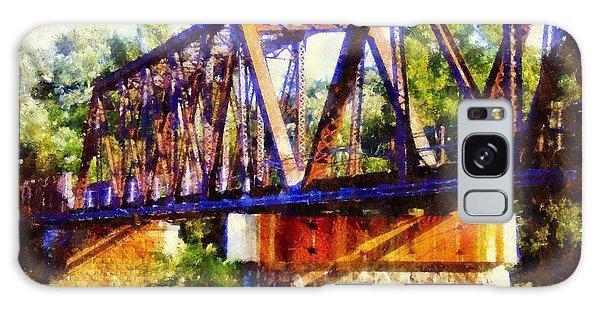 Train Trestle Bridge Galaxy Case by Janine Riley