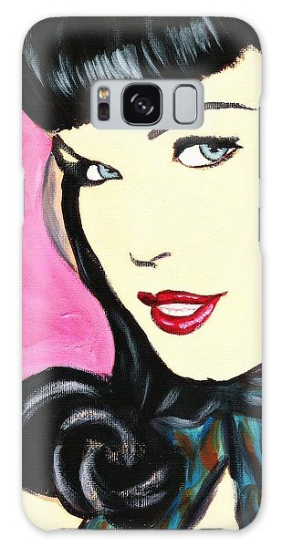 Bettie Page Pop Art Painting Galaxy Case