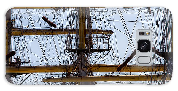 Between Masts And Ropes Galaxy Case