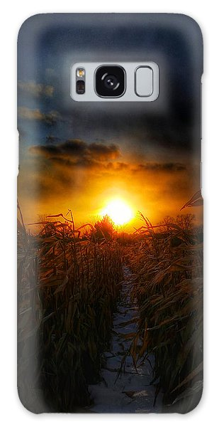 Between The Rows Galaxy Case by Brook Burling