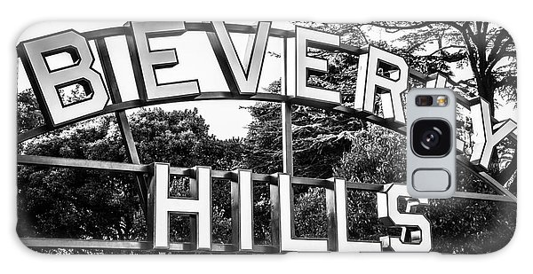 Beverly Hills Sign In Black And White Galaxy Case