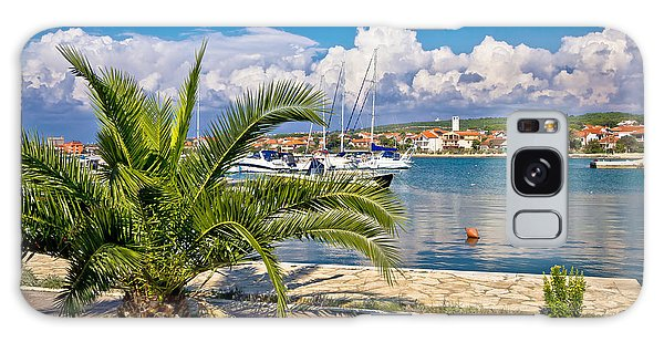 Bibinje Village In Dalmatia Waterfront View Galaxy Case