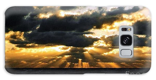 Crepuscular Biblical Rays At Dusk In The Gulf Of Mexico Galaxy Case