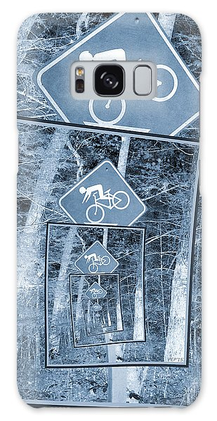 Bicycle Caution Traffic Sign Galaxy Case