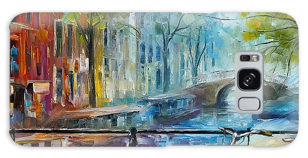 Architecture Galaxy Case - Bicycle In Amsterdam by Leonid Afremov