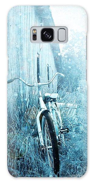 Bicycle In Blue Galaxy Case by Stephanie Frey