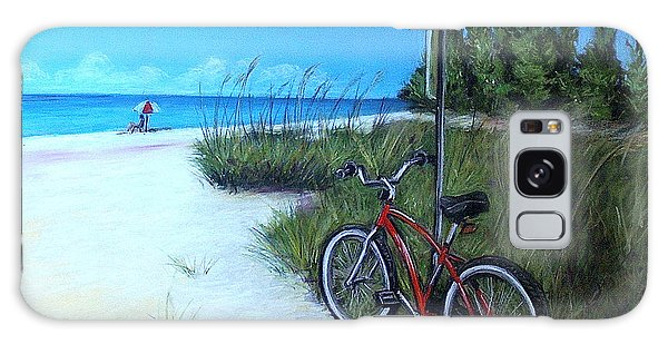 Bicycle On Sanibel Beach Galaxy Case by Melinda Saminski