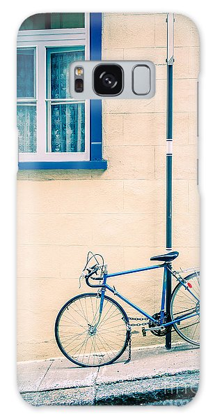 Bicycle Galaxy Case - Bicycle On The Streets Of Old Quebec City by Edward Fielding