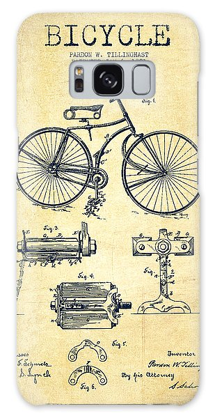 Bicycle Patent Drawing From 1891 - Vintage Galaxy Case