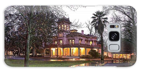 Bidwell Mansion In The Rain  Galaxy Case