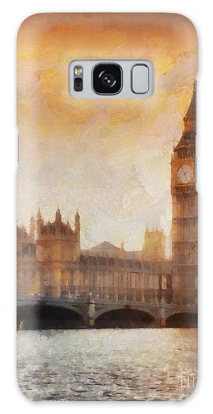London Galaxy Case - Big Ben At Dusk by Pixel Chimp