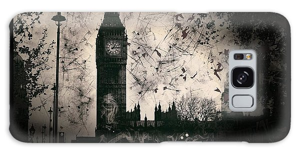 Big Ben Black And White Galaxy Case