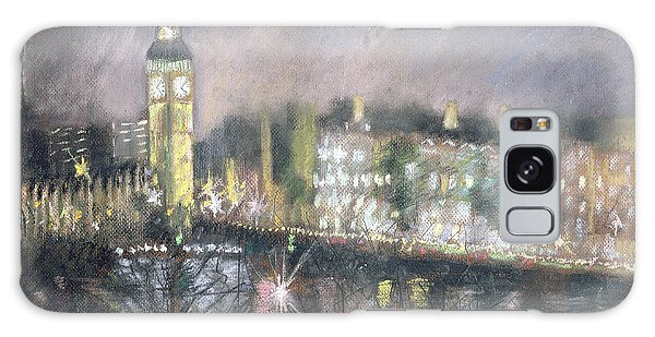 Houses Of Parliament Galaxy Case - Big Ben, From The South Bank, 1995 Pastel On Paper by Sophia Elliot