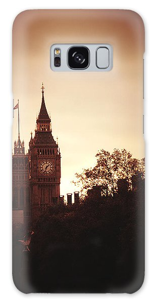 Big Ben In Sepia Galaxy Case by Rachel Mirror