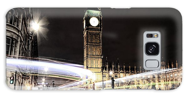 Big Ben With Light Trails Galaxy Case