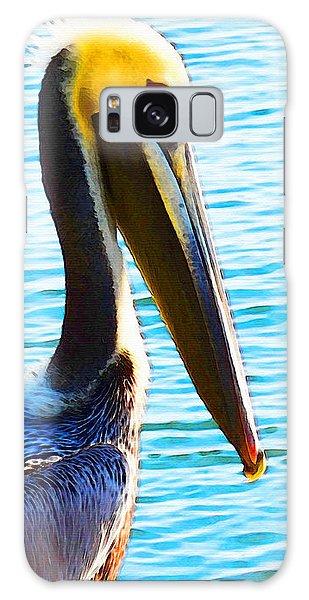 Big Bill - Pelican Art By Sharon Cummings Galaxy Case by Sharon Cummings