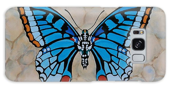 Big Blue Butterfly Galaxy Case