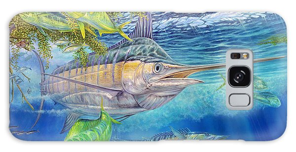 Big Blue Hunting In The Weeds Galaxy Case