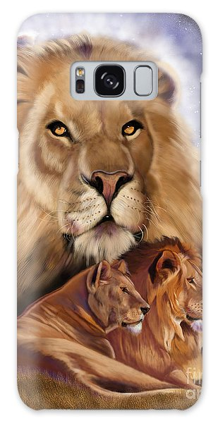 Third In The Big Cat Series - Lion Galaxy Case by Thomas J Herring