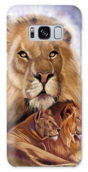 Third In The Big Cat Series - Lion Galaxy Case