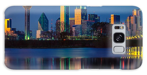 Dallas Skyline Galaxy S8 Case - Big D Reflection by Inge Johnsson