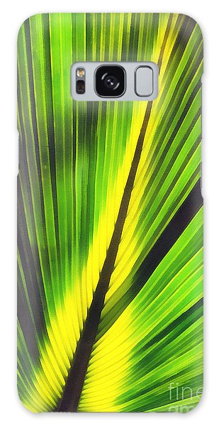 Big Green Palma Leaves  Galaxy Case by Odon Czintos