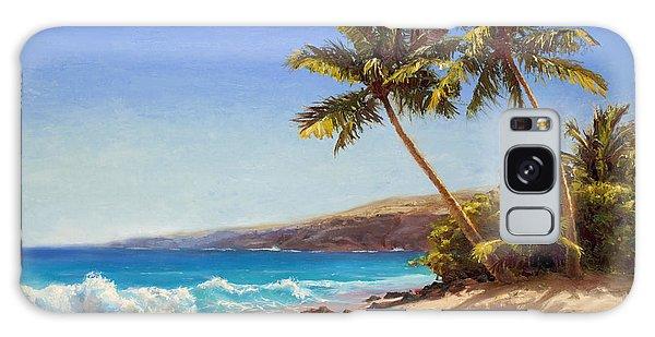 Hawaiian Beach Seascape - Big Island Getaway  Galaxy Case
