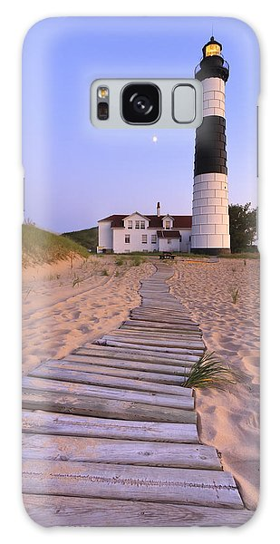 Seashore Galaxy Case - Big Sable Point Lighthouse by Adam Romanowicz