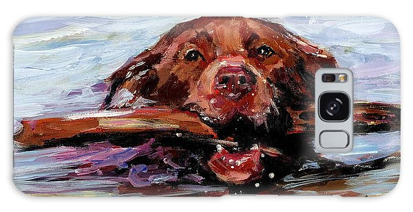 Chocolate Lab Galaxy Case - Big Stick by Molly Poole