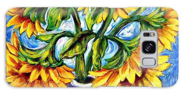 Big Sunflowers Galaxy Case by Sebastian Pierre