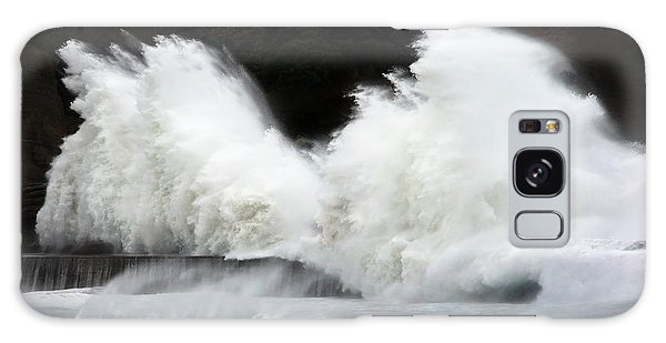 Big Waves Breaking On Breakwater Galaxy Case