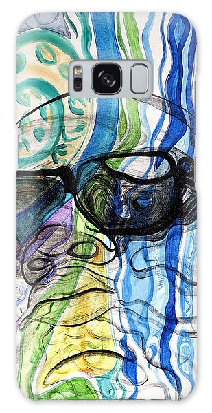 Galaxy Case featuring the painting Biggie by Aliya Michelle