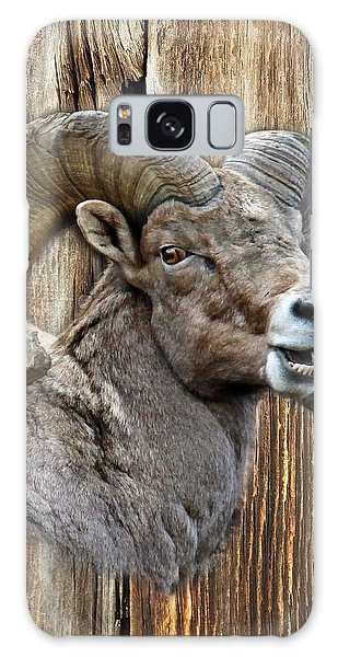 Bighorn Sheep Barnwood Galaxy Case