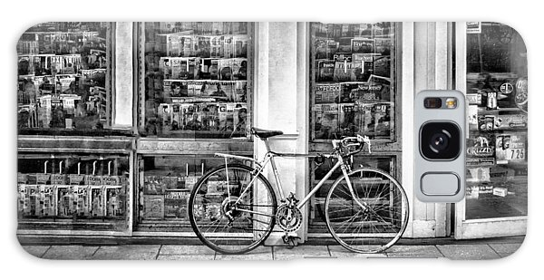 Bike At Palmer Square Book Store In Princeton Galaxy Case by Ben and Raisa Gertsberg