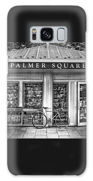 Bike At Palmer Square Book Store In Princeton Galaxy Case
